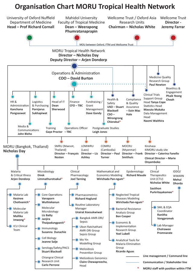 MORU organisation chart