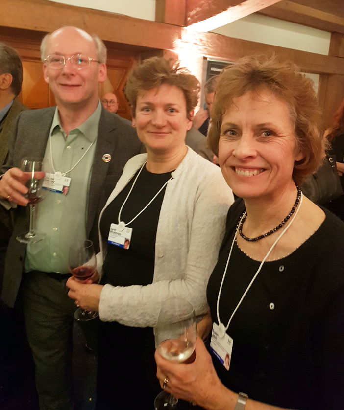 Left to right - Professor Sir Charles Godfrey, Professor Sarah Whatmore and Professor Susan Jebb at the World Economic Forum's University of Oxford nightcap event.