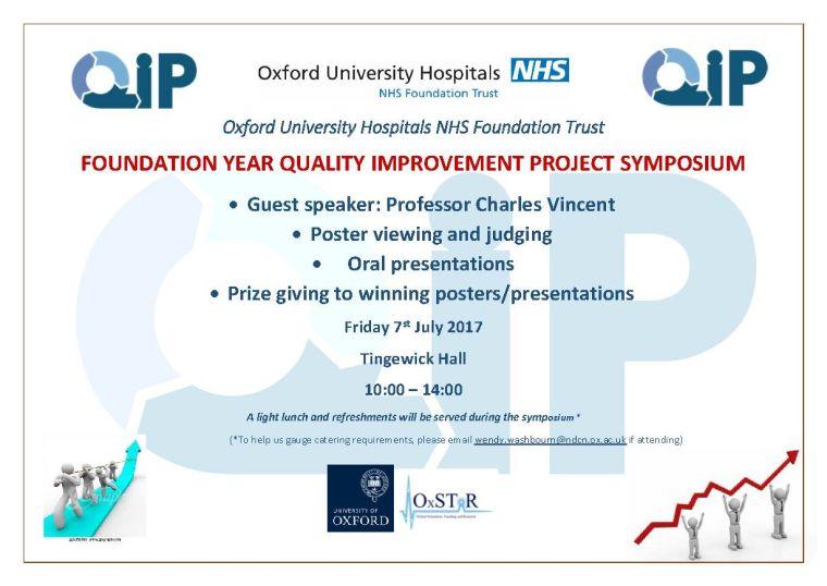 Foundation year quality improvement project symposium 1