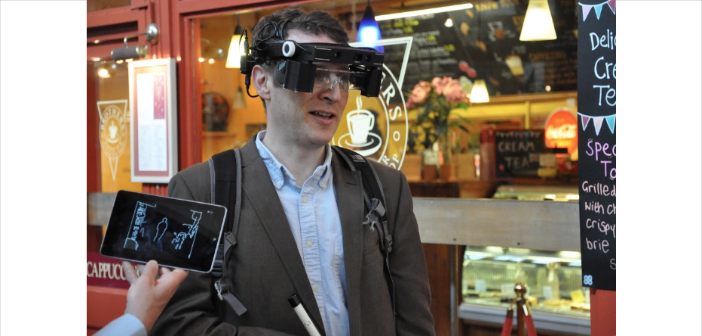 """Smart glasses"" to enhance any remaining sight to help visually impaired people perceive objects."