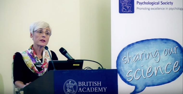 Professor Maggie Snowling lecturing at the British Academy on dyslexia in 2013