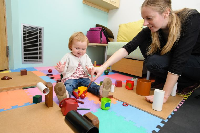 18-month-old girl during the object play session