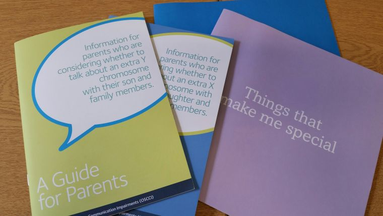 Booklets to help parents tell their child about a diagnosis of an extra sex chromosome