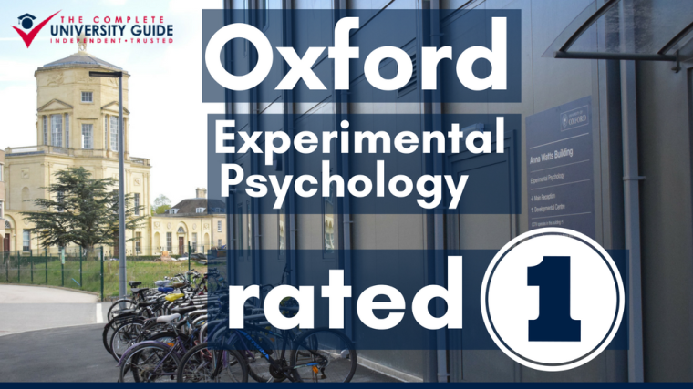 Oxford experimental psychology rated 1 for the second year running
