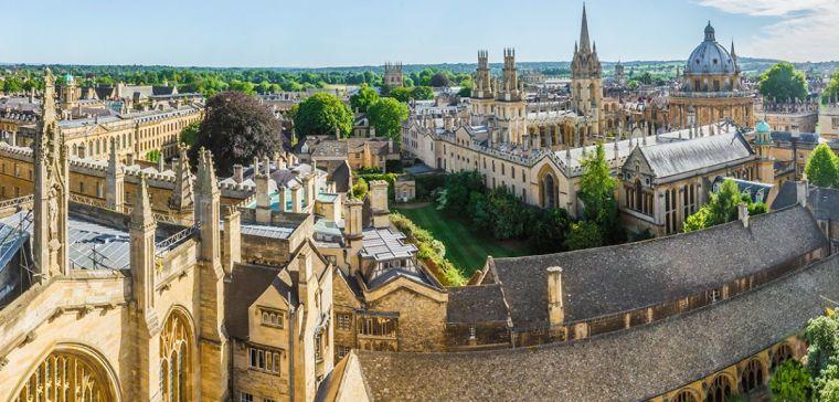 A bird's eye view of Oxford