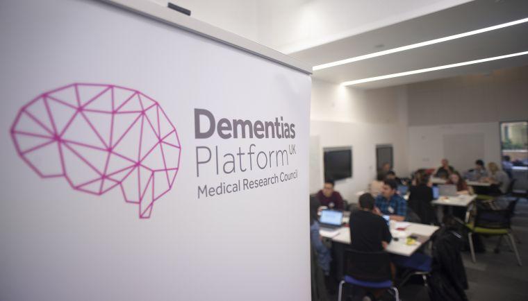A DPUK banner at a datathon event.