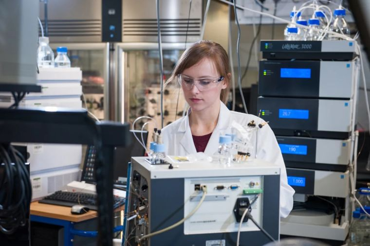 A researcher in a lab