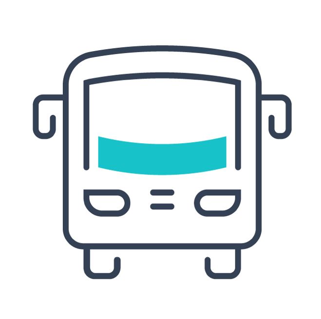 Local shuttle bus icon