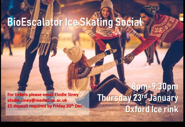 Ice skating social poster