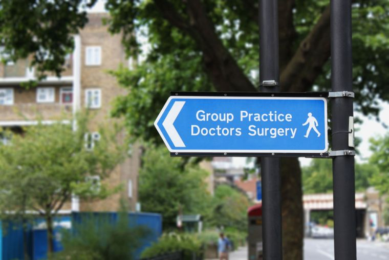 Doctors surgery sign
