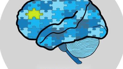 Jigsaw of cartoon brain