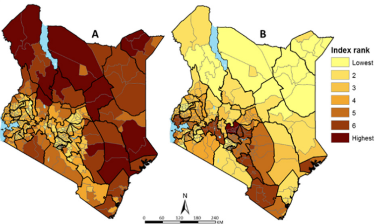 Regional Social and Epidemiological Vulnerability to COVID-19 in Kenya