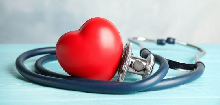 Image of a stethoscope with a heart shape