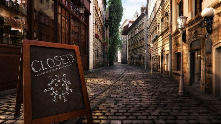 Empty street due to coronavirus lockdown