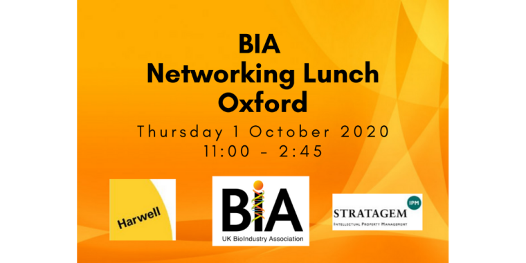 This is an image advertising an event titled BIA Networking Lunch Oxford, organised by the BIA.