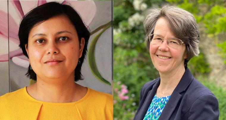 Photos of Manisha Nair and Marian Knight.