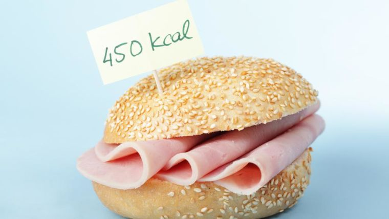 Ham roll with calorie label - 450cals