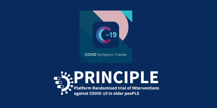 COVID Symptom Tracker and PRINCIPLE