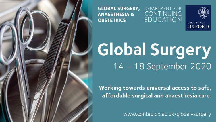 Our accredited five-day course covers major topics in global surgery, anaesthesia and obstetric care, such as burden of disease, manpower issues, training, partnership, supplies, service management, research needs, advocacy and ethics, and resource allocation.