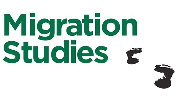 Migration Studies journal name and footprint logo