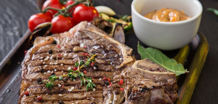 Photo of grilled steak.