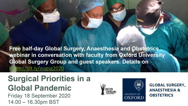 The OUGSG 2020 Conference: Surgical Priorities in a Global Pandemic is now a virtual conference on 18 September!