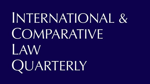 cover of the journal International & Comparative Law Quarterly