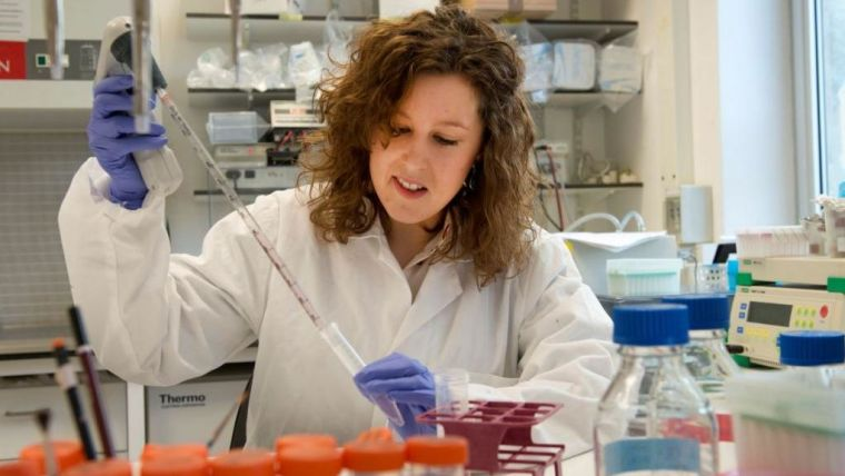 Female researcher working in a laboratory