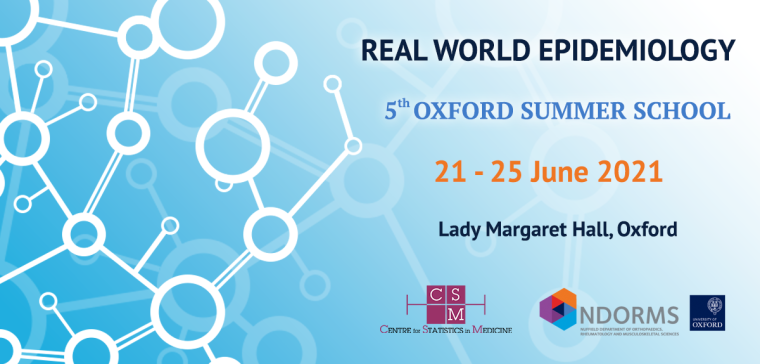 Real World Epidemiology: Oxford Summer School 2021 banner