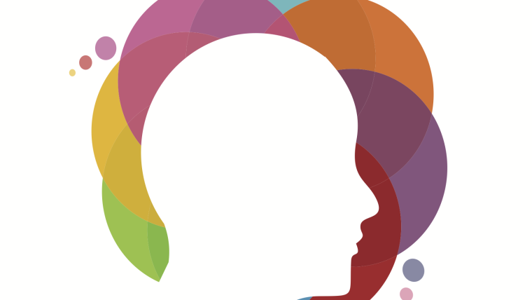 Mental Health Talk main image of head surrounded by colours