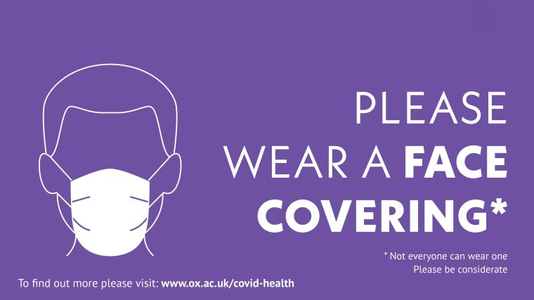 Please wear a face covering. Not everyone can wear one, please be considerate.