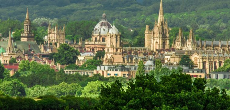A view of Oxford colleges and spires