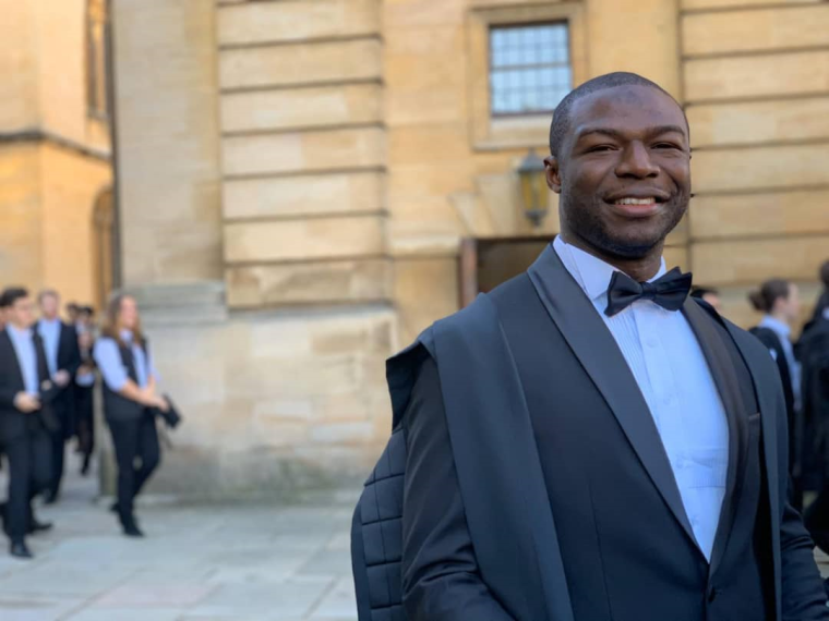 Terrence Epie graduation in Oxford