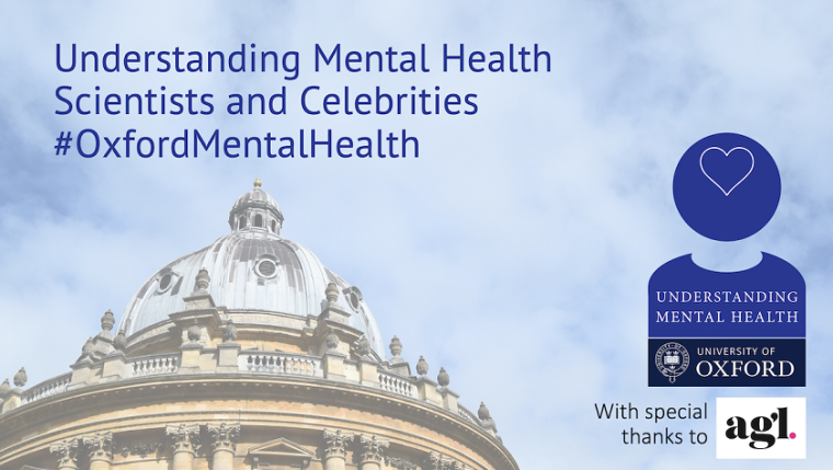 Title of series, Oxford Mental Health written on background of iconic Oxford building. Includes with special thanks and logos.