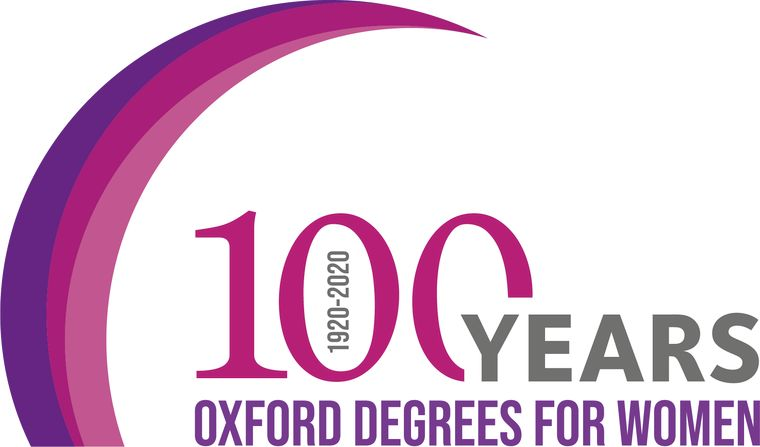 100 years of Oxford degree for women - project logo