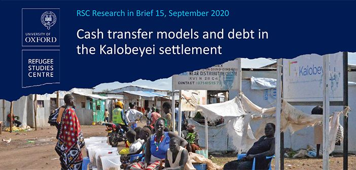Cover image of the brief 'Cash transfer models and debt in the Kalobeyei settlement'