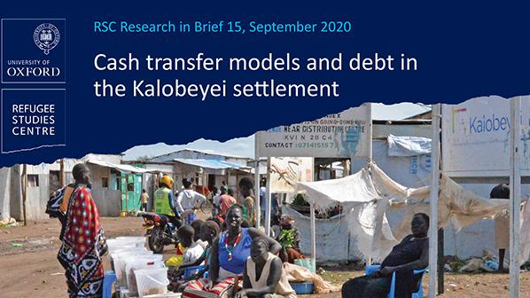 cover image of the research brief 'Cash transfer models and debt in the Kalobeyei settlement'