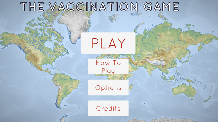 Screen shot from the Vaccination Game, including text explaining the virtual vaccine