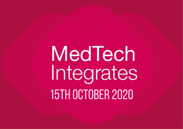This image is advertising a virtual event, MedTech Integrates, taking place on 15th October 2020