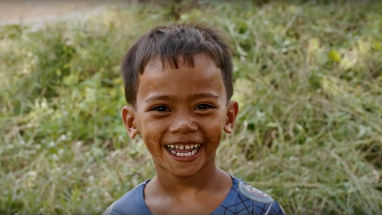 Child from an ethnic minority group in Binh Phuoc province, Vietnam