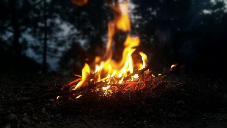 A campfire