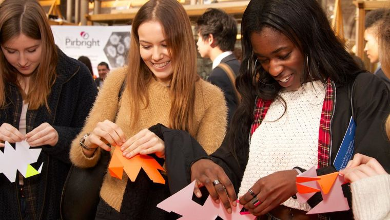 Sixth form students taking part in an activity