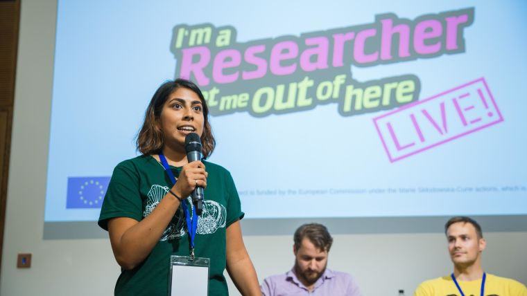 Priyanka Dhopade at the final of 'I'm a researcher'