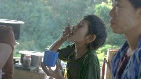 Child taking pills
