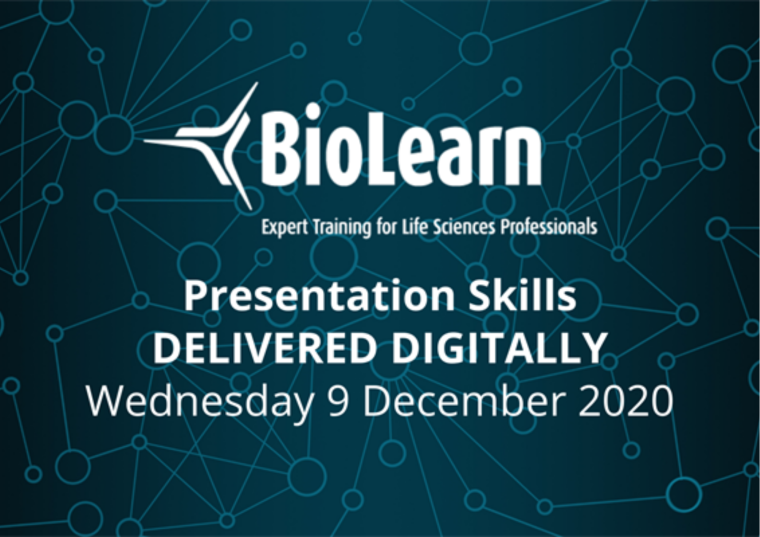 This image is advertising the OBN BioLearn titled, Presentation Skills.