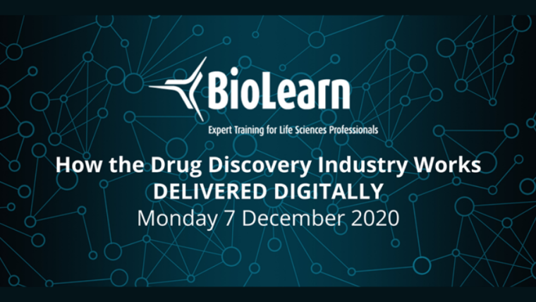 This image is advertising OBN BioLearn titled, How the Drug Discovery Industry Works.