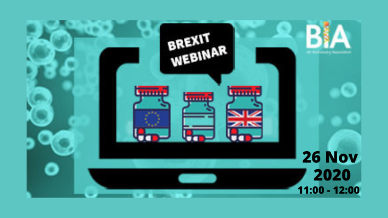 This image is advertising the BIA's November session of their Brexit Briefing Webinar series.