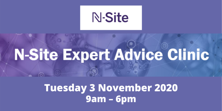 This image is advertising the N-Site Expert Advice Clinic.