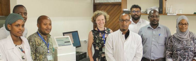 Anna Schuh with the AIREAL team in Tanzania
