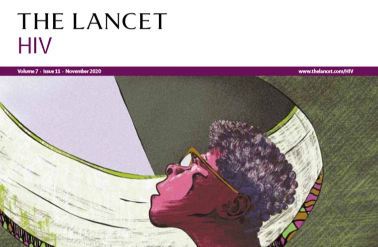 Front cover of November 2020 Lancet HIV Journal